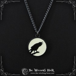 """Pendentif corbeau """"Caw at the Moon"""""""