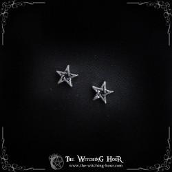 Boucles d'oreilles pentagrammes