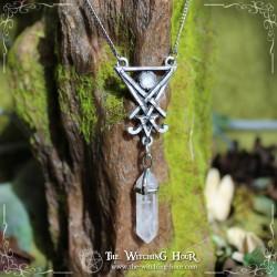 Pendentif sceau de Lucifer - cristal de roche