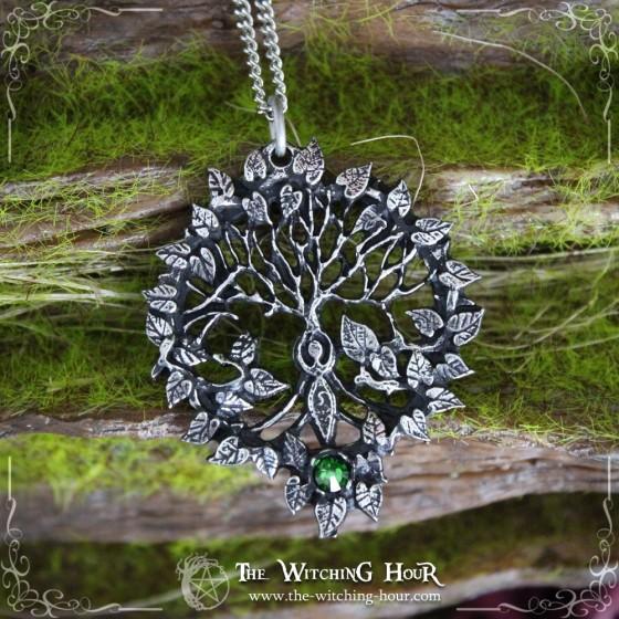 Tree of life and Goddess pendant
