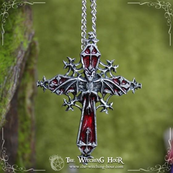 """Pendentif croix gothique """"The Fangassius"""""""