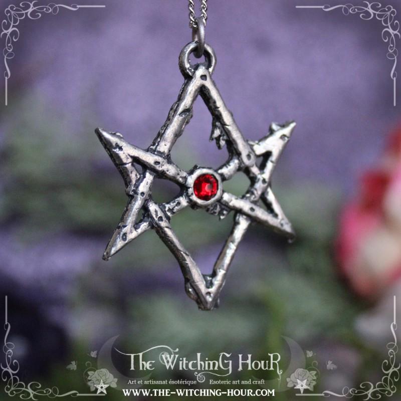 Unicursal hexagram pendant esoteric jewelry by the witching hour unicursal hexagram pendant unicursal hexagram pendant mozeypictures Images