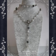 Pagan rosary with tourmaline quartz
