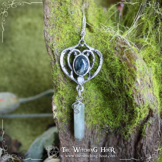 """Collier pendule elfique """"Elfe des Forêts"""""""