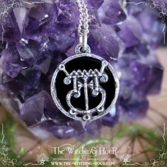 Pendentif sceau de Gremory en onyx