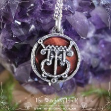 Sigil of Gremory pendant with red tiger eye
