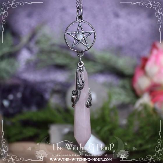 Pentagram pendulum necklace