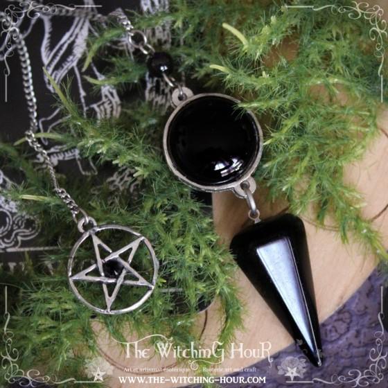 Pendule sigil de Lilith en onyx