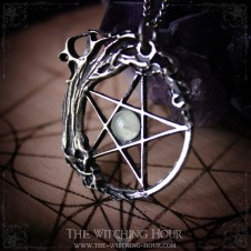Pentagram and tree of life pendant