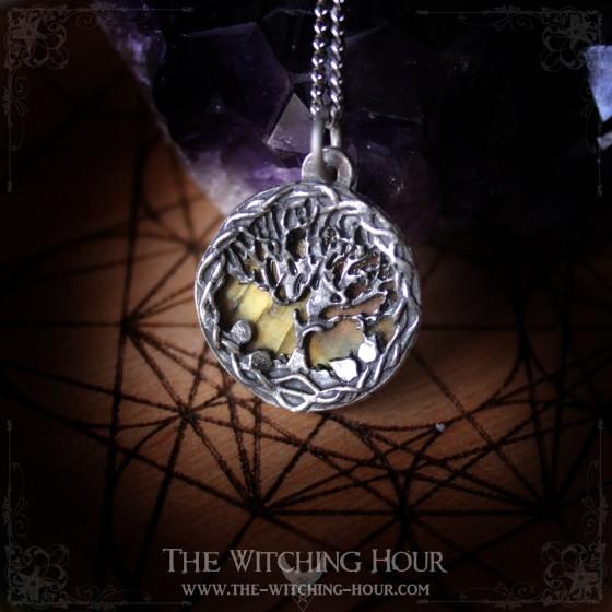 "Tree of life pendant ""Aeraliaa"" - Double sided pendant"