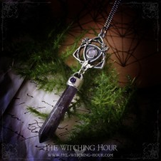 Triquetra pendulum necklace with amethyst