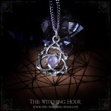 Triquetra pendant with amethyst