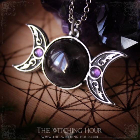 Pendentif pentagramme et triple lune