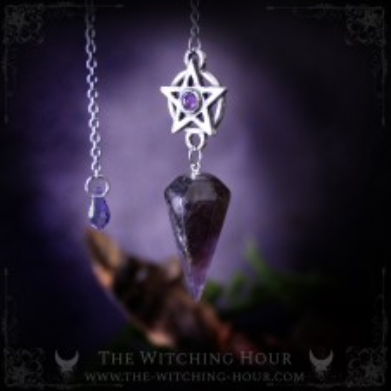 Amethyst pentagram pendulum