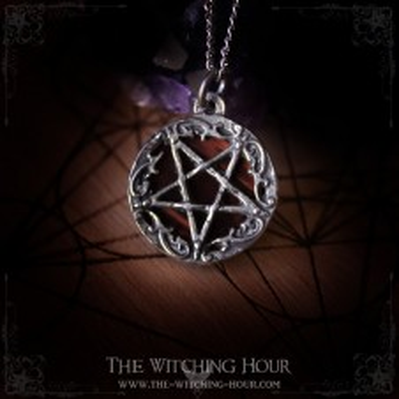Inverted pentagram pendant