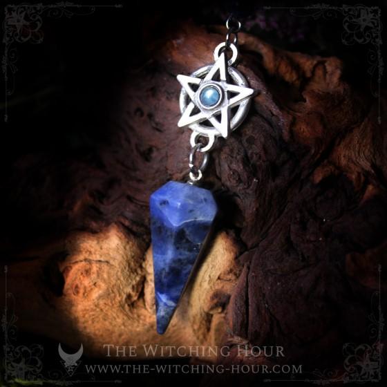 Pendule pentagramme en sodalite