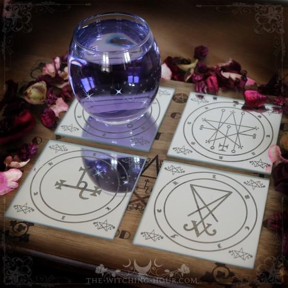Sigil of Lucifer coasters