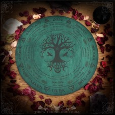 Wheel of the year with tree of life