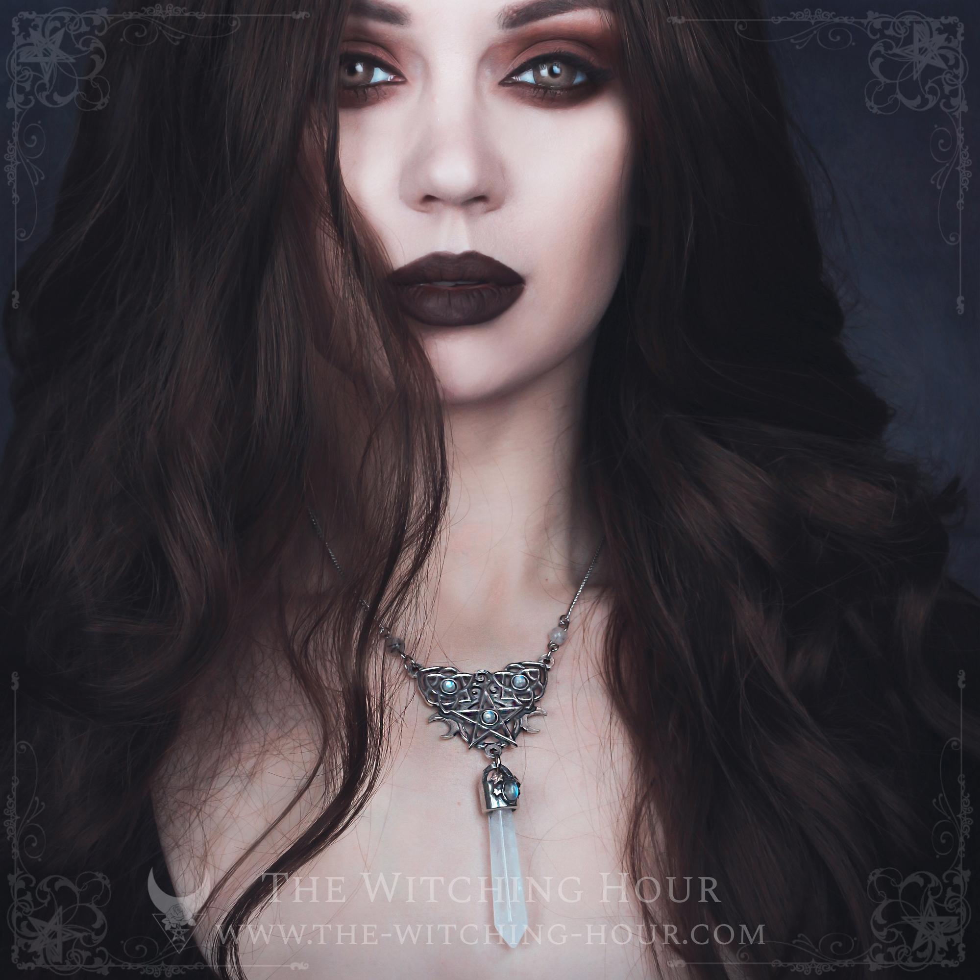 Collier pentagramme elfique