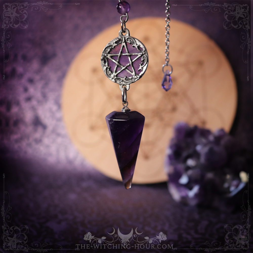 pentagram amethyst pendulum